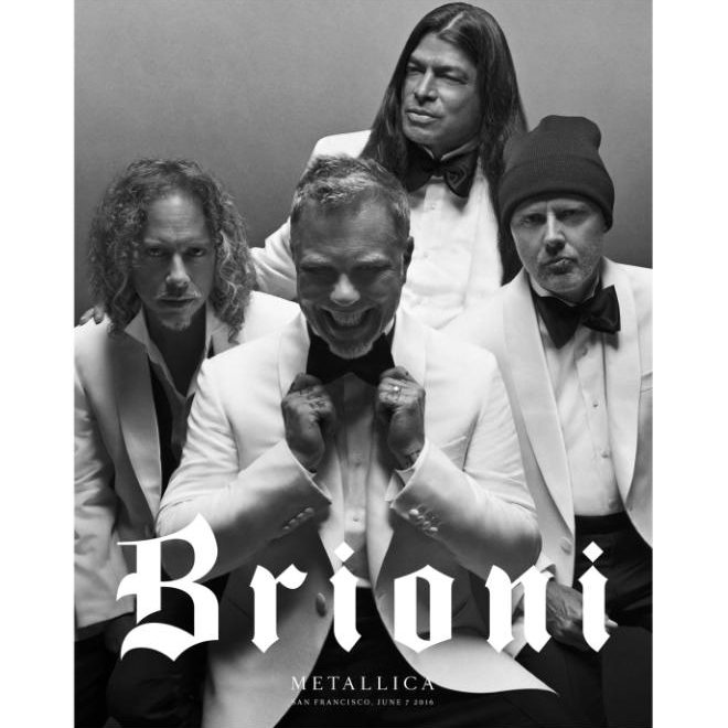 Brioni unveils new direction and striking new campaign starring Metallica